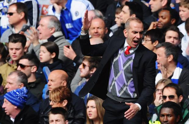 LONDON, ENGLAND - APRIL 07: Paolo Di Canio, manager of Sunderland reacts during the Barclays Premier League match between Chelsea and Sunderland at Stamford Bridge on April 7, 2013 in London, England. (Photo by Mike Hewitt/Getty Images)
