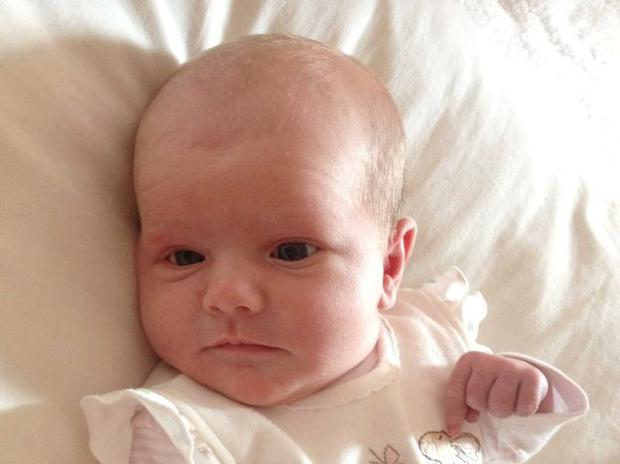 Hannah and Martin Clarke are celebrating the newest addition of their family Annabel Rose