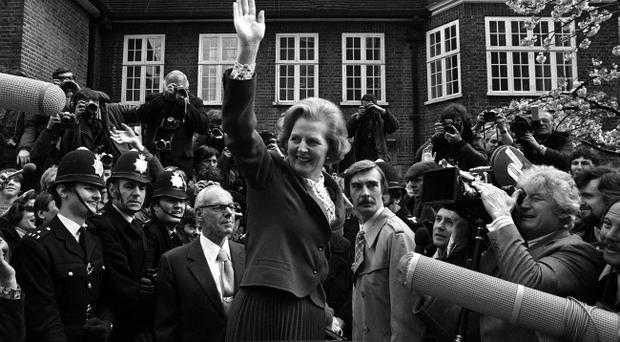 File photo dated 04/05/1979 of Conservative Leader Margaret Thatcher ariving at Tory Headquarters in London. Baroness Thatcher died this morning following a stroke, her spokesman Lord Bell said. PRESS ASSOCIATION Photo. Issue date: Monday April 8, 2013.