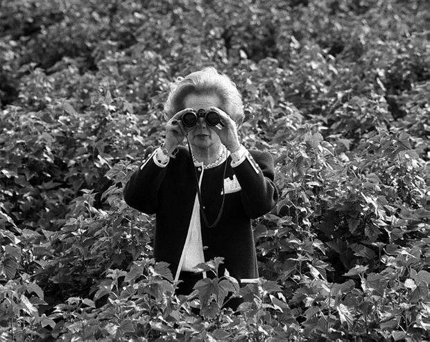 File photo dated 29/05/1987 of Prime Minister Margaret Thatcher, waist-deep in blackcurrent bushes, bringing the agricultural scene into focus during a visit to Appleford Farm, Rivenhall, near Witham, East Anglia