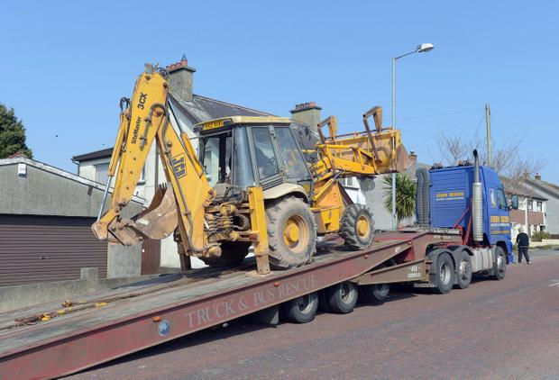 A JCB digger was rammed into a post office during a burglary attempt in Moneyreagh, Co Down in the early hours of Tuesday morning