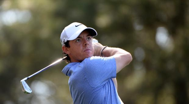 AUGUSTA, GA - APRIL 09: Rory McIlroy of Northern Ireland hits a shot during a practice round prior to the start of the 2013 Masters Tournament at Augusta National Golf Club on April 9, 2013 in Augusta, Georgia. (Photo by Harry How/Getty Images)