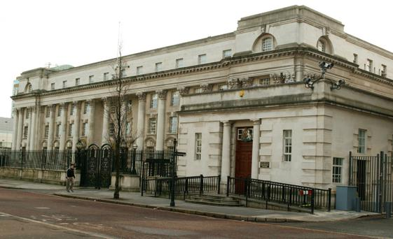 High Court: Gary Jones is accused of posting the cocaine to Belfast from Manchester