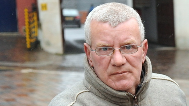 John McDermott arrives at Dungannon Crown Court today where he was jailed again for abusing yet another youngster