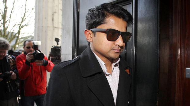 Praveen Halappanavar pictured entering Galway Courthouse before the start of the inquest in to the death of his wife Savita