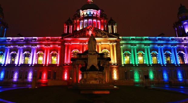 The Royal British Legion requested that Belfast City Hall be illuminated in red for the launch of the Poppy Appeal
