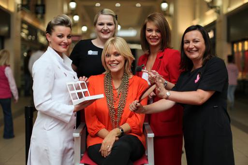 Host Emma Louise Johnston gets ready for Fairhill Shopping Centre's Big Fashion Event