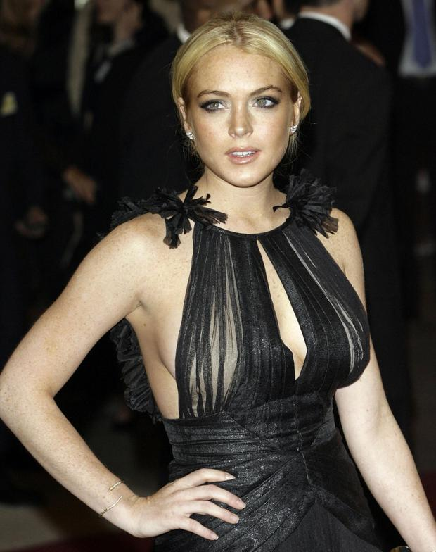 Lindsay Lohan arrives at the Metropolitan Museum of Art Costume Institute Gala in New York, in this May, 7, 2007