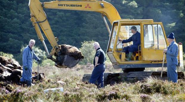 Flashback ... Co Monaghan, Irish Republic, Monday September 8th 2003. Police bid to trace the remains of Columba McVeigh.