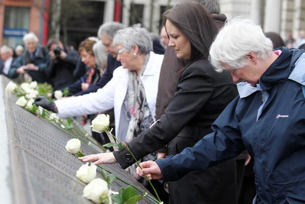 Belfast marks the 101st anniversary of the sinking of the RMS Titanic at the Titanic Memorial in the City Hall grounds. Pic: Jonathan Porter