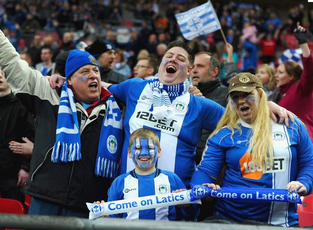Wigan fans at Wembley