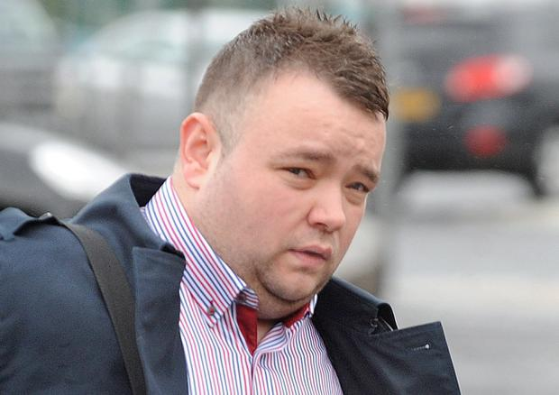 Pipe bomber John Smyth Junior who was jailed today at Antrim Crown Court for three years plus a further five on probation for a racially motivated attack on a Polish target