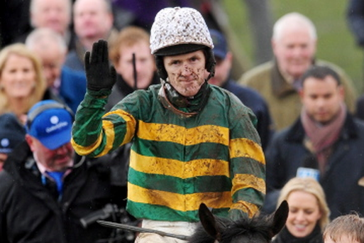 Tony McCoy after winning The Albert Bartlett Novices' Hurdle Race during the Cheltenham Gold Cup Day in March