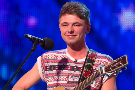 Jordan O'Keefe from Derry on Britain's Got Talent on Saturday night. Jordan got four thumbs-up from the judges