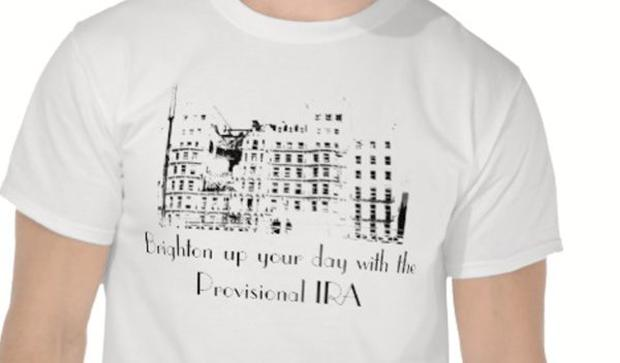 Brighton bombing t-shirt.