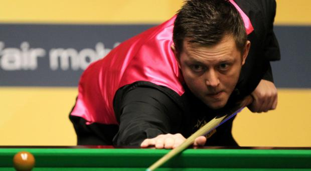 Mark Allen at the table during his first round match against Mark King in the Betfair World Championships at the Crucible, Sheffield. PRESS ASSOCIATION Photo. Picture date: Monday April 22, 2013