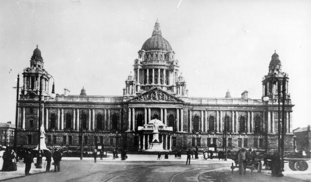 Belfast City Hall. Donegall Square. As it looked in 1930 BELFAST TELEGRAPH ARCHIVE