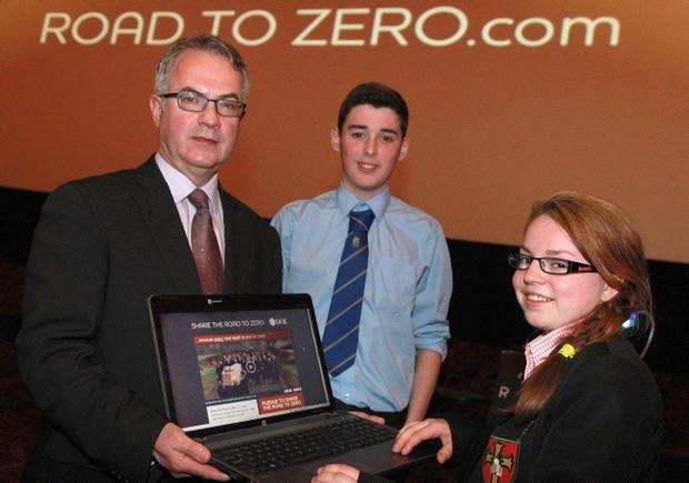 Environment Minister Alex Attwood launched a new and challenging DOE road safety advertising campaign encouraging all road users to 'Share the Road to Zero'