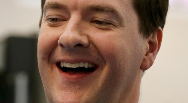 Relief: Chancellor of the Exchequer George Osborne