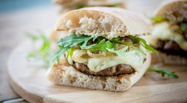 Tasty treats: mini beef and hummus burgers by Marcus Wareing