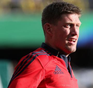 MONTPELLIER, FRANCE - APRIL 27: Ronan O'Gara of Munster looks on during the Heineken Cup semi final match between Clermont Auvergne and Munster at Stade de la Mosson on April 27, 2013 in Montpellier, France. (Photo by David Rogers/Getty Images)