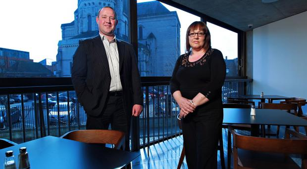 Sharon Wright and John Robinson, directors of JRS Catering which runs the Canteen at The Mac.