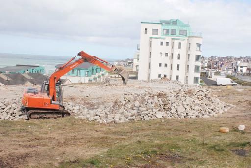 The old Strand Hotel site in Portstewart owned by Norman Menary being demolished