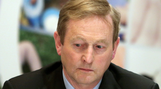 Taoiseach Enda Kenny at a press conference in the Westbury Hotel, Dublin earlier today