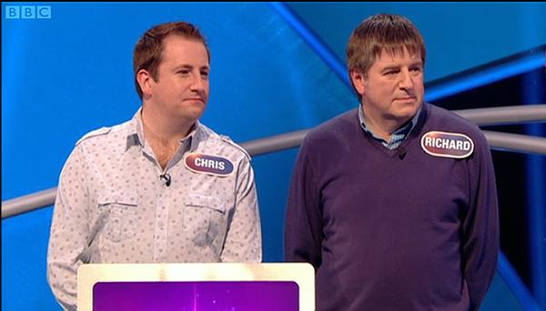 Richard (54) and Christopher (34) McGonigle were on the cusp of breaking through to the second round of Pointless last week when an inspired answer from Richard was lost in translation