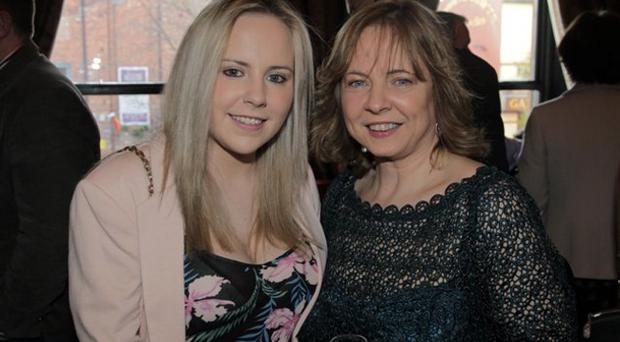 Pictured L-R: Niamh and Imelda McMillan at A Night with James Nesbitt at The Merchant Hotel, Belfast.