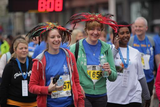 2013 Deep RiverRock Belfast City Marathon. Lyn and Gemma Wilson Picture by Brian Thompson/ Press Eye