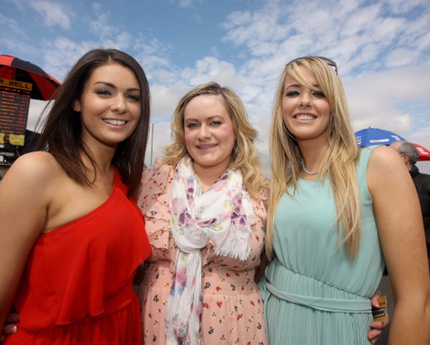 ?Press Eye Ltd Northern Ireland 6th March 2013 - Mandatory Credit - Picture by Matt Mackey/presseye.com Daily Mirror May Day races at Down Royal racecourse. Carly Young, Gillian Mullin and Noreen McGorman.