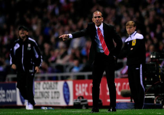 SUNDERLAND, ENGLAND - MAY 06: Manager Paolo Di Canio of Sunderland shouts instructions during the Barclays Premier League match between Sunderland and Stoke City at the Stadium of Light on May 06, 2013 in Sunderland, England. (Photo by Stu Forster/Getty Images)
