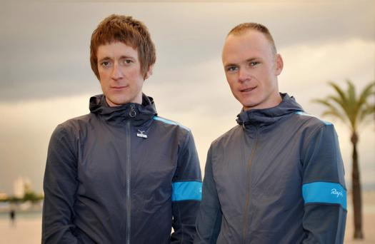 Team Sky riders Bradley Wiggins (left) and Chris Froome. The inter-team rivalry between Sir Bradley Wiggins and Chris Froome at Team Sky can only benefit cycling, according to team-mate Geraint Thomas
