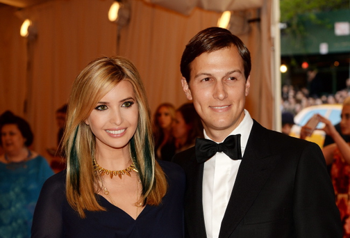 NEW YORK, NY - MAY 06: Ivanka Trump (L) and Jared Kushner attend the Costume Institute Gala for the