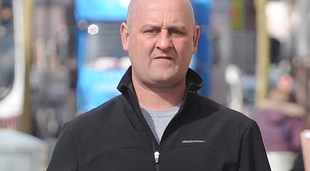Patrick John McDaid pictured outside Belfast Crown Court