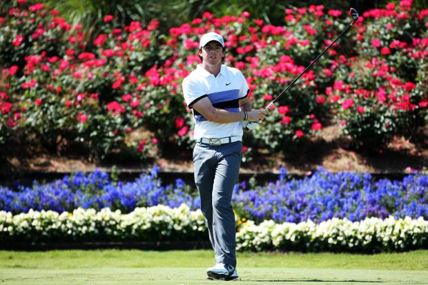 PONTE VEDRA BEACH, FL - MAY 09: Rory McIlroy of Northern Ireland plays a shot from the 18th tee during round one of THE PLAYERS Championship at THE PLAYERS Stadium course at TPC Sawgrass on May 9, 2013 in Ponte Vedra Beach, Florida. (Photo by Richard Heathcote/Getty Images)
