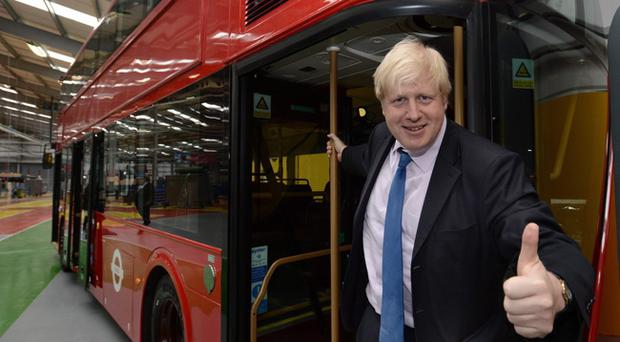 London Mayor Boris Johnston on his visit to Northern Ireland. Boris officially opened the new Wrightbus plant based in Antrim, which will manufacture the chasis for the new bus for London.