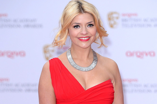 Holly Willoughby arriving for the 2013 Arqiva British Academy Television Awards at the Royal Festival Hall, London. PRESS ASSOCIATION Photo.