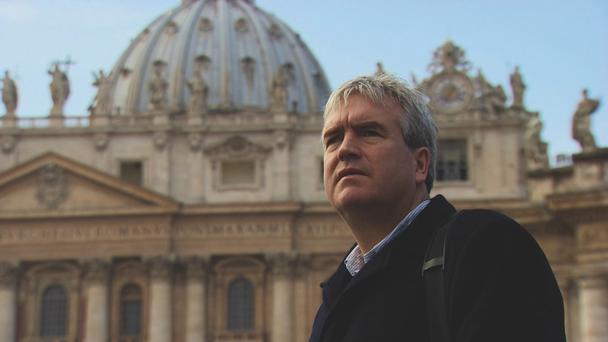 Darragh MacIntyre in This World: The Shame of the Catholic Church. Photo by BBC This World.