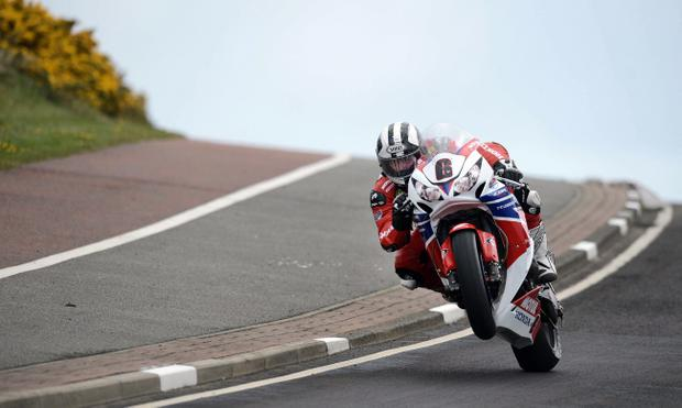 Michael Dunlop on his Honda Legends bike during this year's North West 200