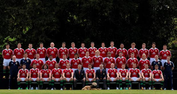 The 2013 British and Irish Lions Squad. PRESS ASSOCIATION Photo.