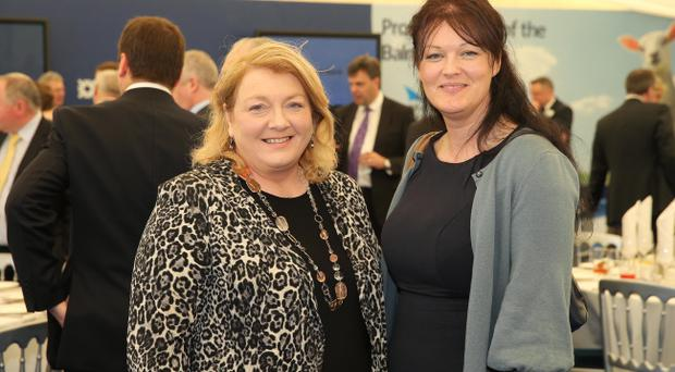 Ulster Bank lunch at the 2013 Balmoral Show - Lorna Robinson and Karen Loughran. Picture by Kelvin Boyes / Press Eye