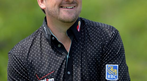 Graeme McDowell of Northern Ireland on day one of the Volvo World Match Play Championship at Thracian Cliffs Golf & Beach Resort on May 16, 2013 in Kavarna, Bulgaria. (Photo by Ross Kinnaird/Getty Images)