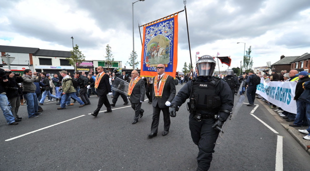 In recent years police officers have been pelted with petrol bombs, bricks and bottles while trying to keep the peace following the annual Orange Order demonstration past Ardoyne. Shots have also been fired and last year an explosive device was also hurled towards police lines.