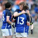 Cavan's Ryan Connolly celebrates at the final whistle