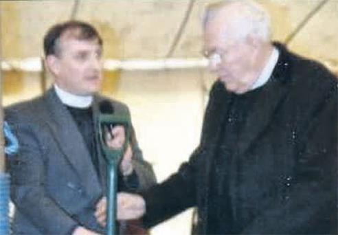 Rev Robert Ormerod (left) with Rev Ian Paisley at a Free Presbyterian Church function