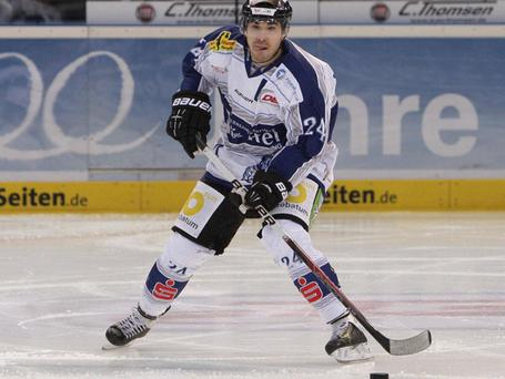 Calvin Elfring left Germany to join the Belfast Giants