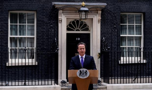 Prime Minister David Cameron makes a statement in Downing Street today as anti-terror police were preparing to question the two men shot and injured after the Woolwich soldier killing as details about their backgrounds began to emerge