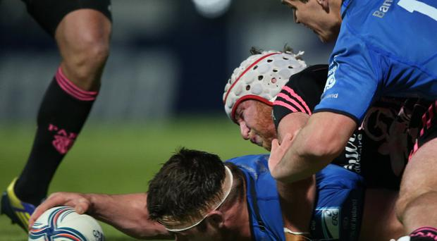 Cian Healy insists his mind is on Leinster's bid to wrestle the PRO12 title from Ulster at the RDS on Saturday night